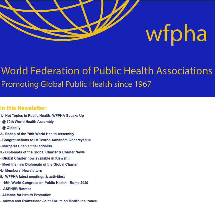 WPFHA Newletter June 2017