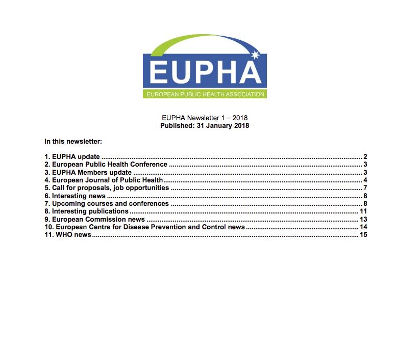 Eupha Newsletter Jan 2018