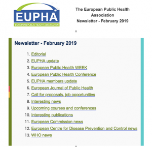 Eupha Newsletter Feb 2019