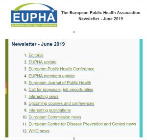 Eupha Newsletter Jun 2019