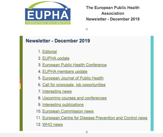 Eupha Newsletter Oct 2019