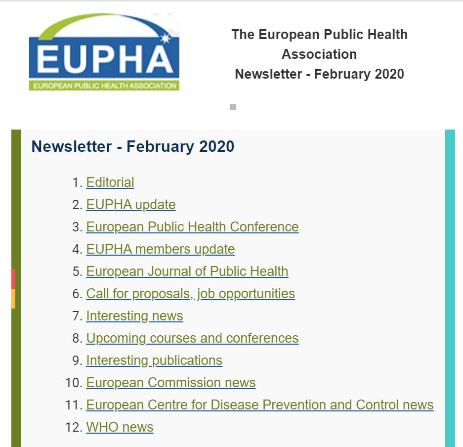 Eupha Newsletter Febrero 2020
