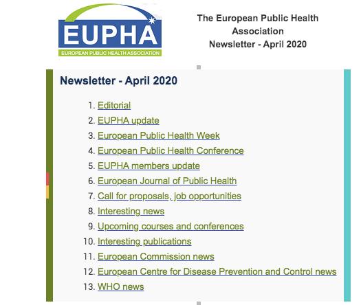 Eupha Newsletter April 2020