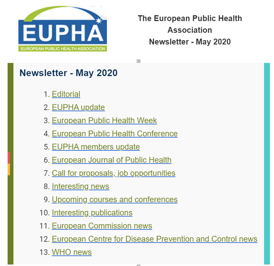 Eupha Newsletter May 2020