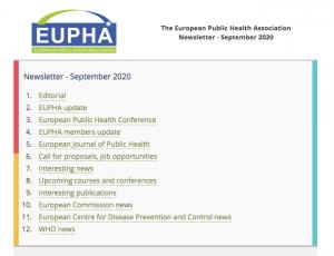 Eupha Newsletter Sep 2020