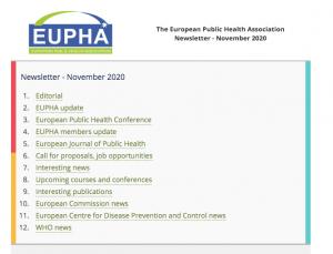 Eupha Newsletter Nov 2020