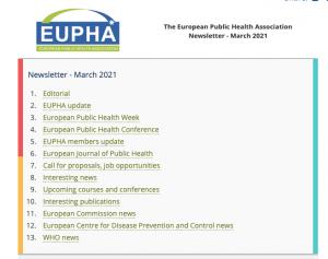 Eupha Newsletter Mar 2021