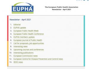 Eupha Newsletter Apr 2021